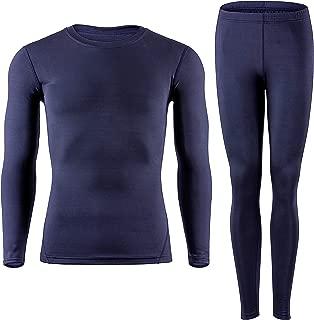 Men's Thermal Underwear Baselayer Long Johns Tops & Bottom Set with Fleece Lined
