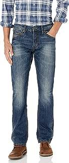 Men's Retro Slim Fit Straight Leg Jean