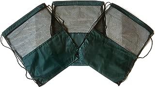 3 Pack HUNTER GREEN MESH Nylon Drawstring Backpacks Sackpack Tote Cinch Gym Bag - Variety of Colors! (X-Large, Hunter Green Mesh)