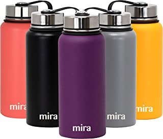 MIRA 32 Oz Stainless Steel Vacuum Insulated Wide Mouth Water Bottle | Thermos Keeps Cold for 24 hours, Hot for 12 hours | Double Wall Powder Coated Travel Flask | Iris