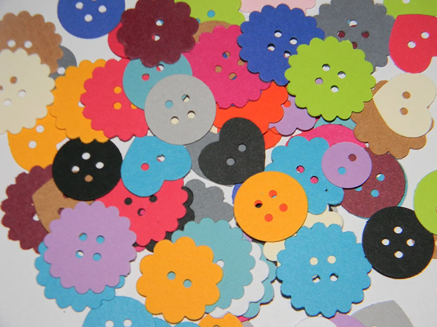100 70% OFF Outlet mixed colored paper Selling buttons confetti hand punched die cuts w