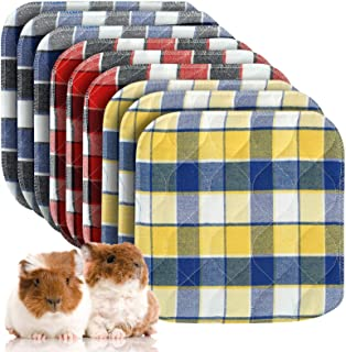Pack of 9 Guinea Pig Washable Pee Pads- 12 × 12 Inch Fast Absorbent Non-Slip Guinea Pig Beddings Reusable Cage Liners for ...