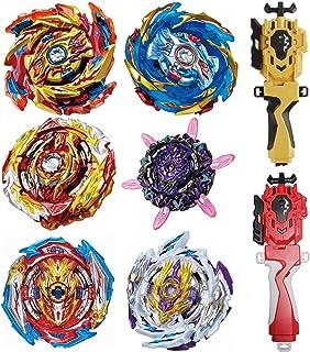 مجموعه برچسب های GiGimelon 6 عدد Gyros 2 عدد پرتاب ، ست ست نبرد Bey Burst ، تاپ های مبارزه ، ایده های جشن تولد بچه ها برای پسران