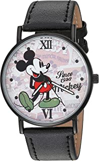 Disney Unisex Wrist Watch Mickey Mouse. Analog Large Display.Luminous Watch Hands.