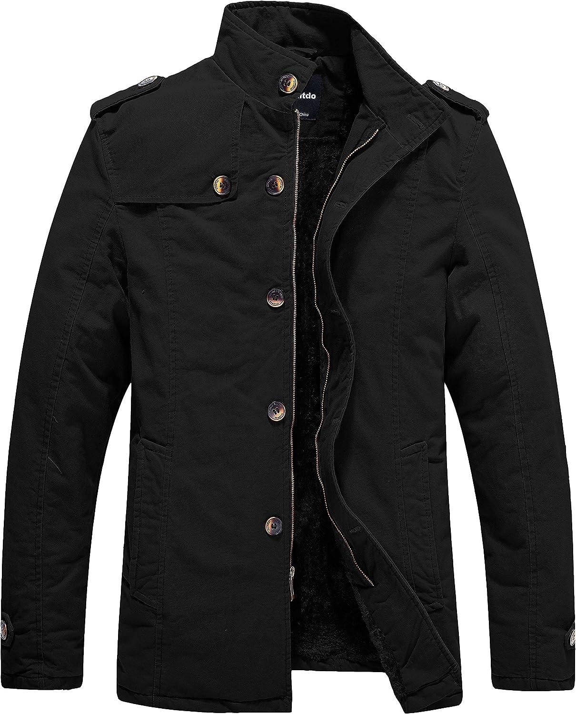 Wantdo Men's Winter Fleece Lined Jacket Cotton Outwear Coat