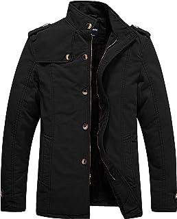 معطف Wantdo رجالي شتوي مبطن بالصوف من القطن للارتداء الخارجي
