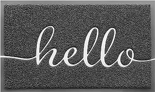 """BeneathYourFeet Door Mat (30""""x17.5"""",Grey), Durable Welcome Mat Low Profile Floor Mat Front Doormat Indoor Outdoor Door Rug..."""