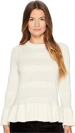 Kate Spade New York - Textured Bell Sleeve Sweater