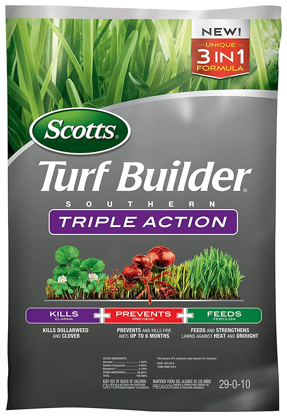 Scotts 26008A Turf Builder Southern Triple Action-8,000 SF, South