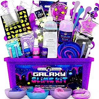 Original Stationery Galaxy Slime para niñas y niños - Kit Galaxy Slime Estrellas Que Brillan en la Oscuridad para Hacer Sl...