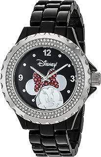 Disney Women's 'Minnie Mouse' Quartz Metal and Alloy Watch, Color:Black (Model: W002896)