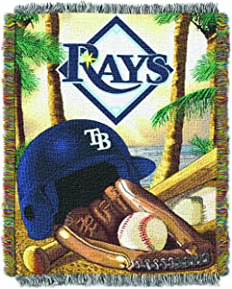 Multicolor The Northwest Company MLB Tampa Bay Rays Micro Raschel Throw One Size