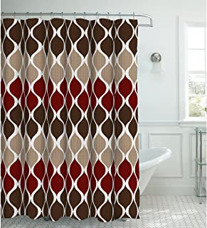 Creative Home Ideas Oxford Weave Textured 13-Piece Shower Curtain with Metal Roller..