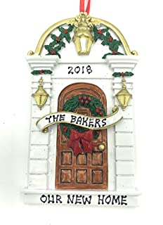 Personalized New First Holly Door Home Christmas Ornament 2019