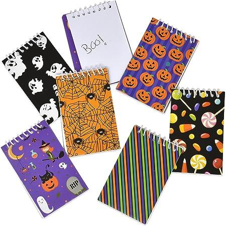 24 Halloween Notepads~Pumpkin~Spider~Ghost~Cat//Party Supplies//Favors