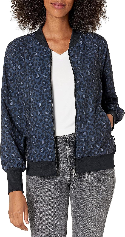 Skechers Women's Midnight Leopard Reversible Bomber Jacket