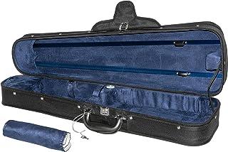 حقيبة سفر MI&VI الكلاسيكية من الخشب الصلب كمان 4/4 (مقاس كامل) مع مقياس الرطوبة وأشرطة الظهر قابلة للتعديل   العزل الحراري...