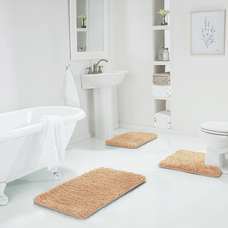 Genteele Non-Slip Popular product Memory Foam Shaggy Max 54% OFF Bathroom Water Mat Absorbe