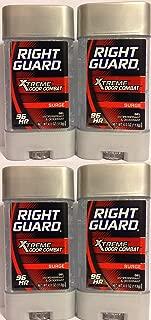 Right Guard Antiperspirant & Deodorant For Men - Gel - Xtreme Odor Combat - Surge Scent - Net Wt. 4 OZ (113 g) Per Stick - Pack of 4