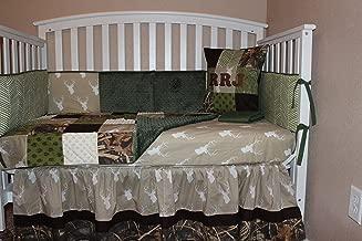 Crib Bedding Set,Woodland Deer Head 6 Piece