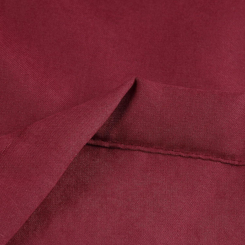 KIMODO Damen Jacke Winterparka Mantel Kunstfell Warme Lang Fleece Winterjacke Parka Wintermantel Steppmantel Langarm Einfarbig Hooded Cotton Padded Coat Outerwear Rot