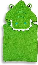 Hudz Kidz Premium Hooded Towel Poncho for Kids & Toddlers, Soft 100% Cotton, Ideal at Bath, Beach, Pool (Green Croc)