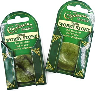 2 Irish Connemara Marble Worry Stones