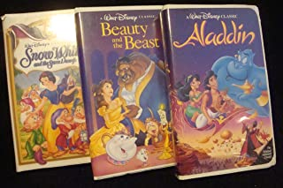 Lot of 3 Disney VHS tapes Aladdin, Beauty and the Beast, Snow White videos