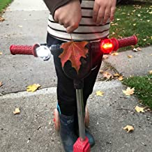 Planet Bike Button Blinky Scooter and Bike Safety Front White and Rear Red Lights, Simple to Mount to Scooters and Kid's B...