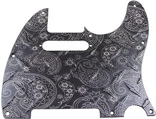 Matte Black Anodized Engraved Paisley Diamond Plate Aluminum Pickguard Fits Fender Tele Telecaster