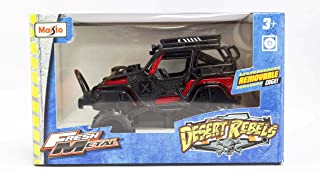 Maisto Desert Rebels With Removable Cage, Jeep Wrangler Rubicon Red