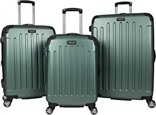 """Kenneth Cole Reaction Renegade 3-Piece Lightweight Hardside Expandable 8-Wheel Spinner Travel Luggage Set, Cilantro, (20""""/..."""