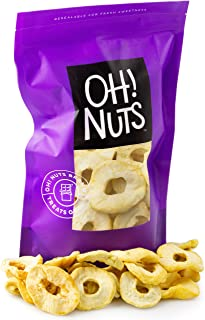 Oh! Nuts Dried Apple Rings | 26oz Bulk Bag Fresh Dehydrated Unsweetened Apple Slices for Snacking & Cooking | No Sugar Add...