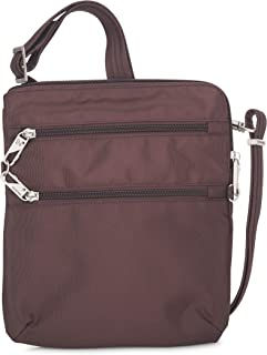 Travelon Anti-theft Classic Slim Dbl Zip Crossbody Bag