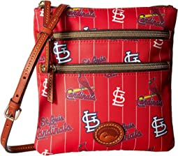 MLB North/South Triple Zip Crossbody Bag
