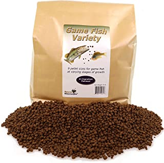 Natural Waterscapes Game Fish Food Variety   Pond and Lake Fish Food Pellets   15 lb Bag   Feed to Bass, Bluegill, Trout   Premium Mix of Floating and Sinking Pellets