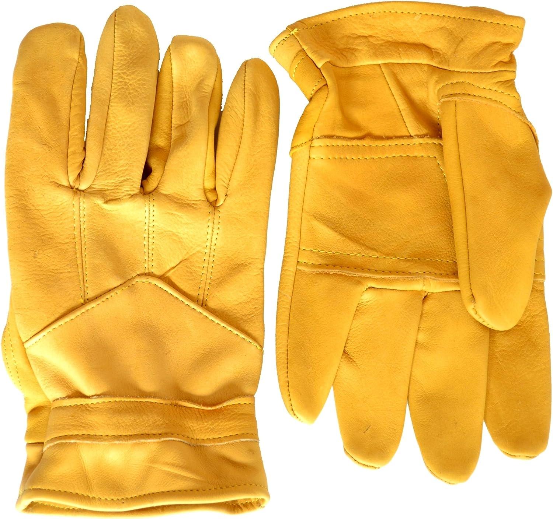 Pittards Pair Tan Leather Gardening// Work Gloves Size Large