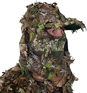 QuikCamo Mossy Oak Camo Hat with Built-in 3D Leafy Face...