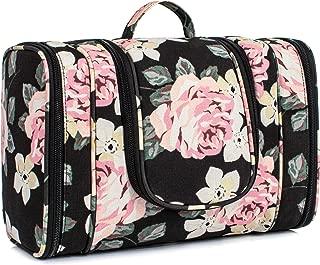 TOPERIN Multifunctional Cosmetic Bag Toiletry Bag Bathroom Storage Bag Black