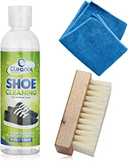 Shoe Cleaner Kit | Cleaning Set For Sneakers, Combat Boots, Sandals, Trainers & More | Shoe Maintenance | Includes Cleaning Cloth & Brush | Plant-Based