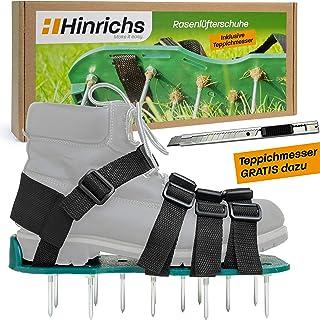 Hinrichs Zapatos aireadores de césped Zapatos con Suelas escarificadoras - para un aireado Sencillo y fácil del césped - Cortador Gratis