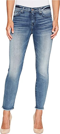 7 For All Mankind Roxanne Ankle w/ Raw Hem in Wall Street Heritage
