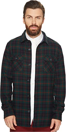 Plaid Wool Blend Unlined Jacket