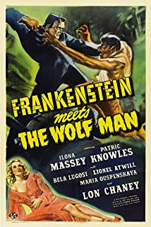 Old Tin Sign Frankenstein Meets Wolf Man Classic Vintage Movie Poster MADE IN THE USA
