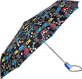 paraguas de lluvia plegable resistente al viento, apertura y cierre automático Open-Close, tejido Pongee con fantasía, tamaño de bolsillo