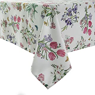 Sponsored Ad - Flyspped Waterproof Wildflower Floral Print Tablecloth Rectangle Table Cloth for Dinning Room 60 Inch by 84...