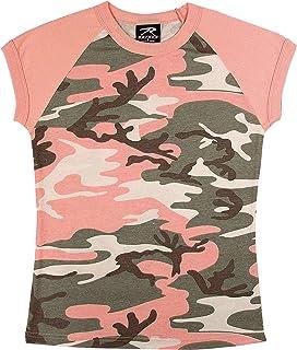 Rothco Women's Raglan T-Shirt, Subdued Pink Camo, Large