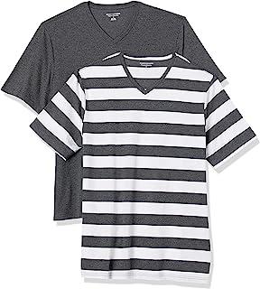 Amazon Essentials Lot de 2t-shirts à col en V et coupe ample pour homme