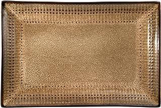 "Pfaltzgraff Cambria Rectangle Platter, 14"" x 9"", Brown"