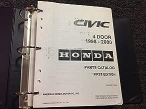 1998 1999 2000 HONDA CIVIC 4 DOOR Parts Catalog Manual HONDA FIRST EDITION OEM